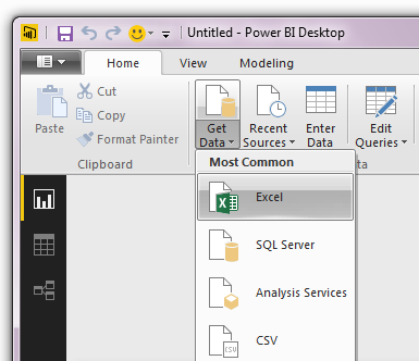 Import danych z Excela do Power BI