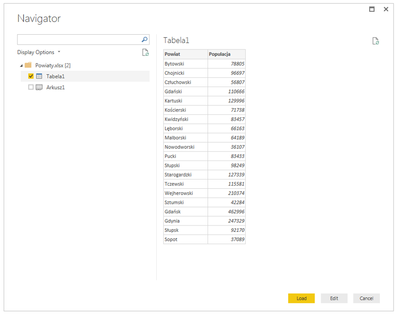 Excel do Power BI